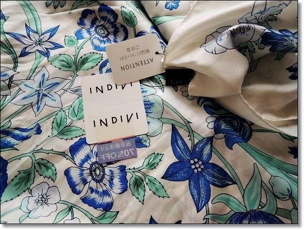 INDIVIのシルクスカーフ