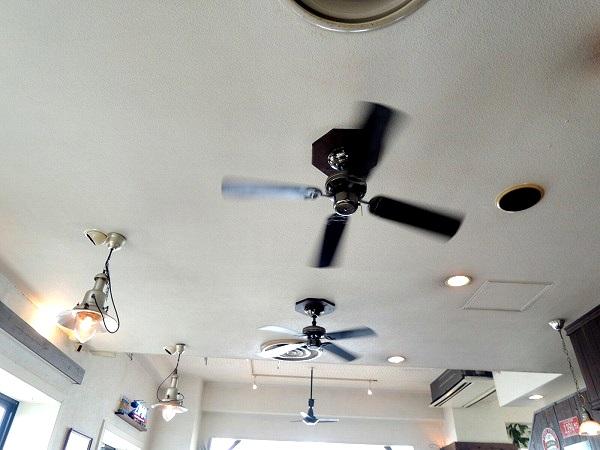サウスワード天井のウインドファン