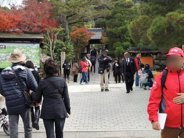 銀閣寺入り口