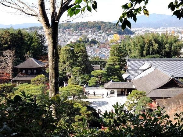 銀閣寺をもっと上から見下ろす