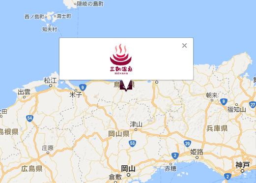 三朝温泉 地図