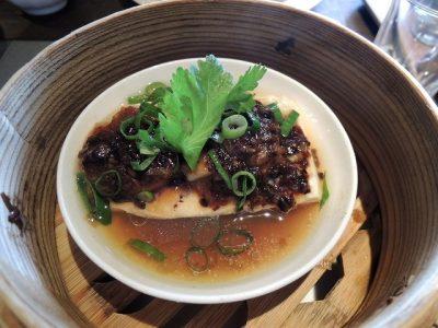 豆腐ホタテ蒸し豆豉ソース