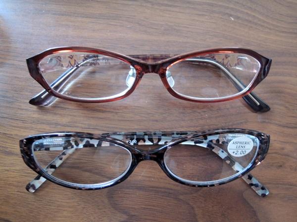 眼鏡市場の老眼鏡とBaylineリーディンググラスの比較