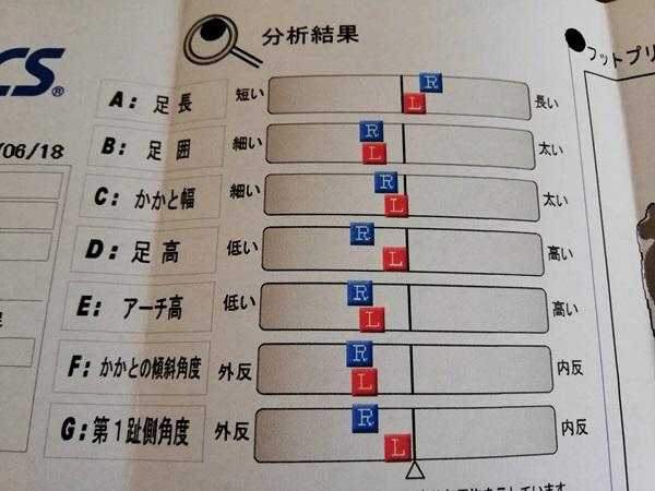 アシックス3d足型計測器分析結果