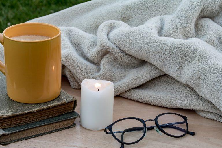 毛布と眼鏡