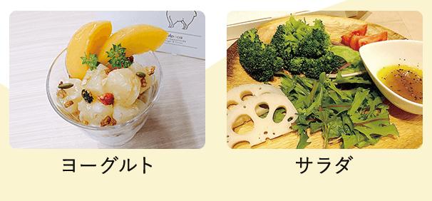 サラダにかけたアルポカヒートスムージー