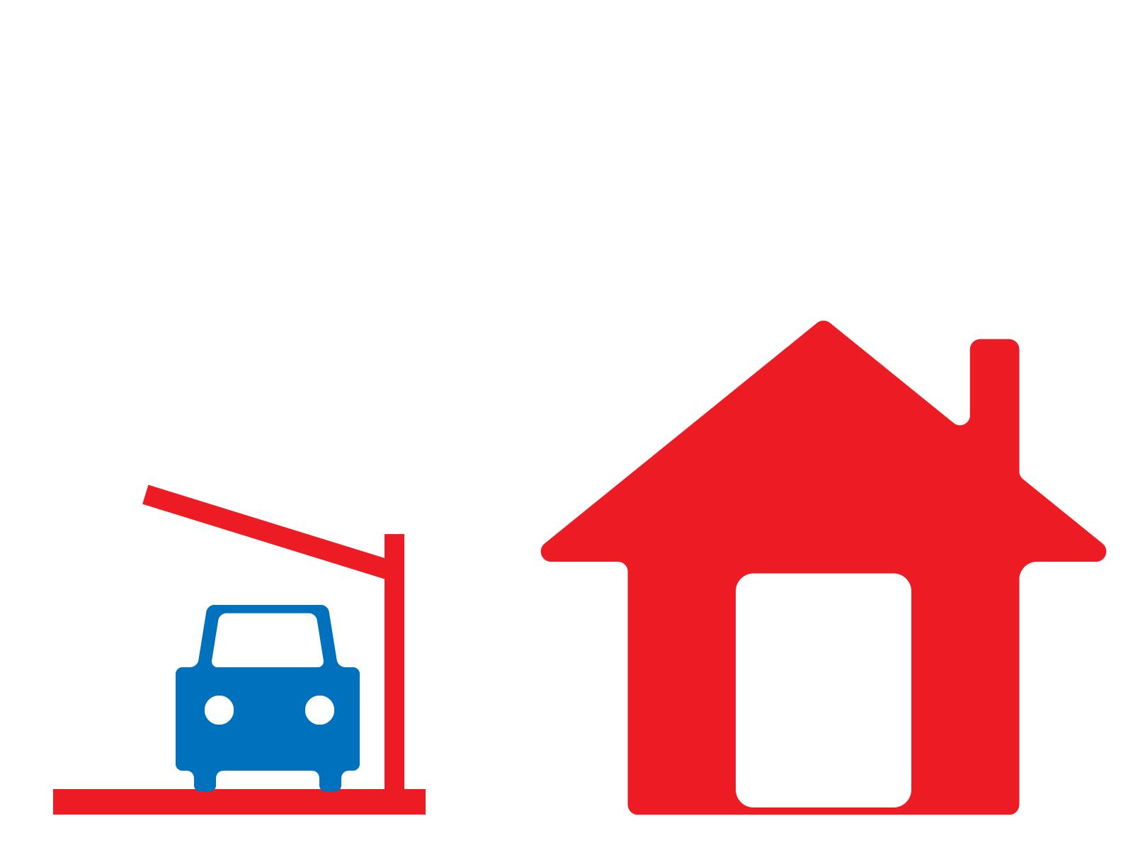 家とガレージ
