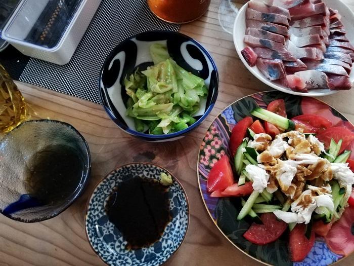 初夏の夕飯