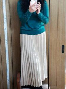 GRL(グレイル) フェイクスエードのプリーツスカート