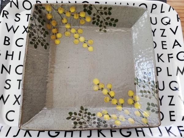 末晴窯のミモレ柄の皿