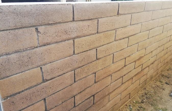 きれいになったブロック塀